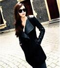 Womens Leather Sleeve Coat