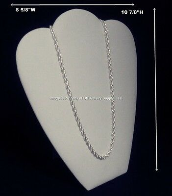 1 White Necklace Pendant Chain Easel Back Jewelry Display 8 58w X 10 78h