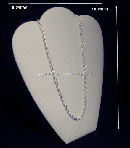 """6 White Necklace Pendant Chain Easel Back Jewelry Displays 8 5/8""""W x 10 7/8""""H"""