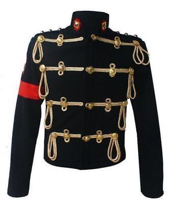 Mens Formal Military Jacket Wool Costumes Dance Dress Coat Slim Fit Tassel US XL
