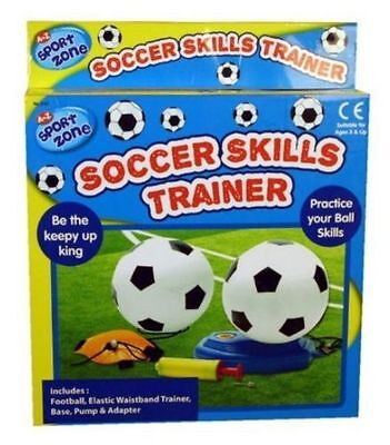 Sport Zone Kids Reflex Football Soccer Trainer Kit Swingball Set