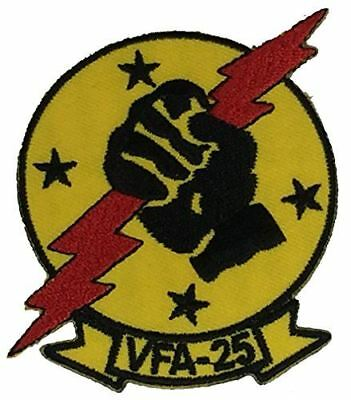 USN NAVY STRIKE FIGHTER SQUADRON VFA 25 PATCH FIST OF THE FLEET VETERAN LEMOORE