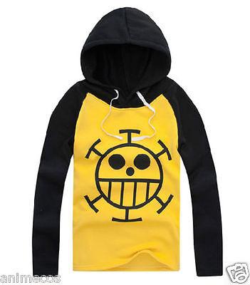One Piece Trafalgar Law Kapuzen Longsleeve Sweatshirt Anime Cosplay Kostüm