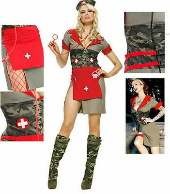6 Piece Army Nurse Costume Set 83274 Leg Avenue Cosplay USA NEW S, - Army Nurse Costume