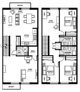 1 Free Month  NEW! Ivy Towns III, 3 Bedroom Kitchener / Waterloo Kitchener Area image 2