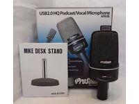 SB Tabletop Microphone USB2.0 HQ 16-bit, 480 sample rate A99JB