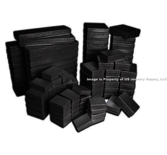 Wholesale 200 500 1000 Black Swirl Cotton Filled Jewelry Gift Boxes Choose Size