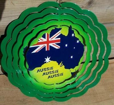 Windräder Windspiel Wind Scheibe Spinner Flagge Australien 20cm