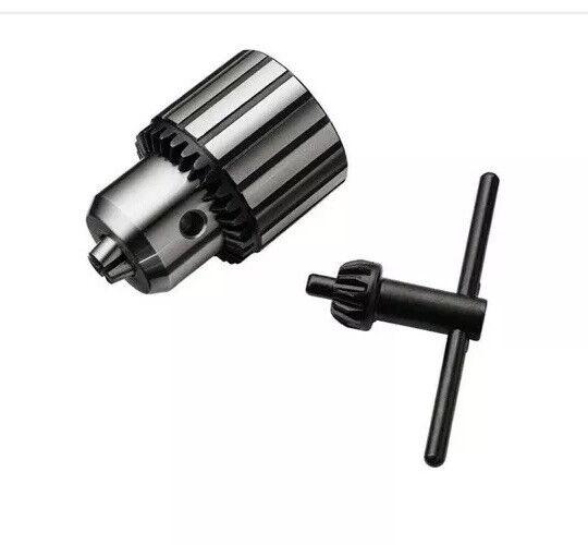 "New JACOBS Threaded Drill Chuck 33BA 5/8-16 5/64 To 1/2"" Capacity With Key Tools"