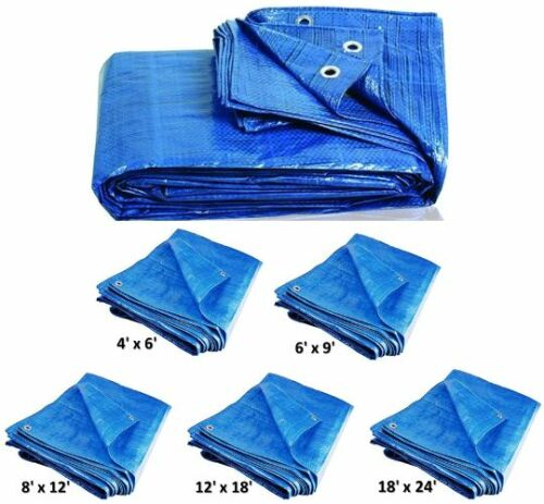 Heavy Duty Tarpaulin Ground Sheet Waterproof Shed Rain