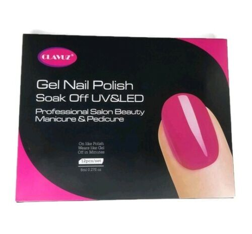 CLAVUZ Gel Nail Polish Set Magnetic Soak Off Gel Lacquer 12