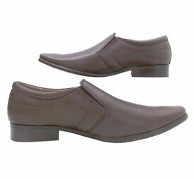 Mens Tag1 London Smart Leather Brown Slip On Loathers Size 7