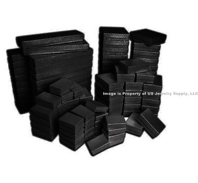 100 Assorted Mix Sizes Black Swirl Cotton Fill Jewelry Gift 2 Pc Boxes  (Black Swirl)