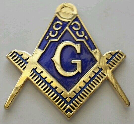 Freemason Masonic cut-out car emblem in gold