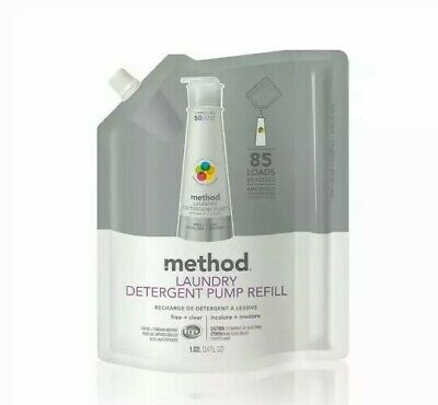 Method Laundry Detergent Refill for Pump Bottles, Free + Clear, 34 oz, 85 loads  Free & Clear Laundry