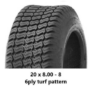 """20 X 8.00 - 8"""" TURF TYRES 6PLY - RIDE ON MOWERS/GOLF CARTS/MINILOADERS Midvale Mundaring Area Preview"""