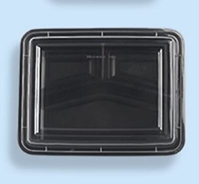 Hd Re-353 42 Oz Black Base Container W Clear Lid 3 Compartment 150case