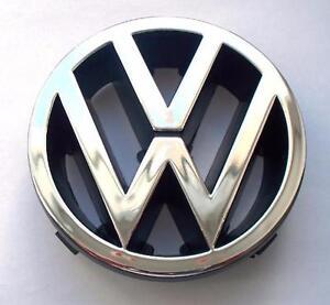 chrome front bumper grille badge emblem logo passat vw b3 b4 golf polo t4 98mm ebay. Black Bedroom Furniture Sets. Home Design Ideas