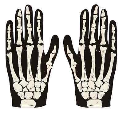 Paar Skelett Handschuhe Knochen Bedruckt Druck Halloween Blutig Erwachsene
