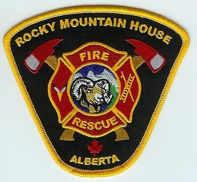 ROCKY MOUNTAIN HOUSE  ALBERTA CANADA FIRE RESCUE PATCH