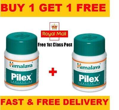 Himalaya Pilex Piles Herbal Hemorrhoids Fissures Pain Relief Treatment | 60 Tab
