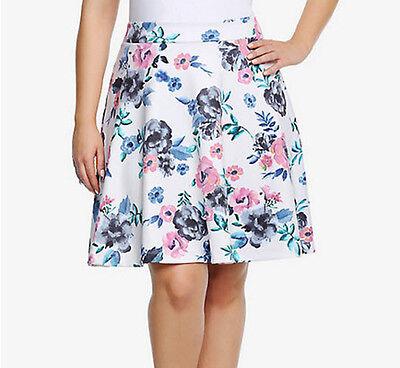 New Torrid Size 0 0X Floral Mini Skater Skirt