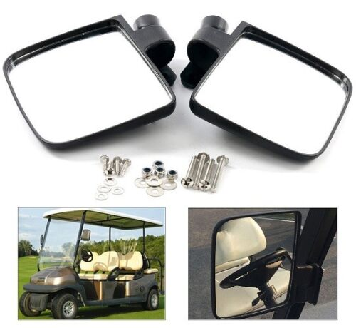 Golf Cart Folding Side View Mirrors fit for Club Car,EZGO,Yamaha,Star,Zone Carts