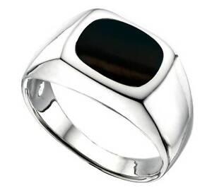 sterling silver mens black onyx signet ring 4 0grams