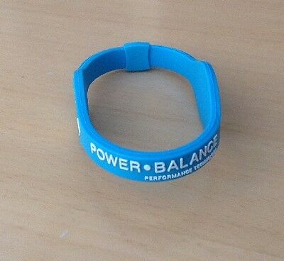 Medium Blue Power Balance  Energy Silicon Wrist Band Hologram Bracelet.  NEW