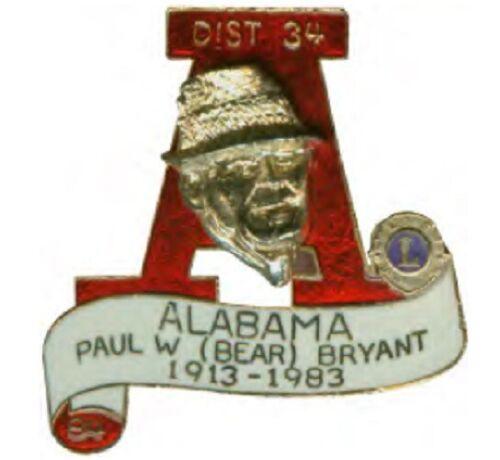 Lions Club Pins - Alabama 1984 Prestige Bear Bryant