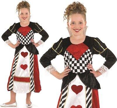 Kinder Königin der Herzen Mädchen Kostüm Märchen Outfit - Königin Der Herzen Kostüm Kinder