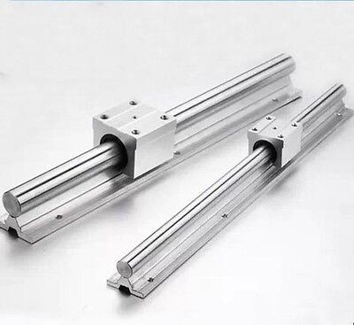 2X SBR12-600mm 12MM FULLY SUPPORTED LINEAR RAIL SHAFT ROD + 4 SBR12UU Block