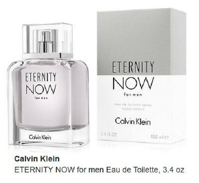Eternity NOW Cologne Perfume by Calvin Klein 3.4 oz 100 ml EDT Spray Men NEW