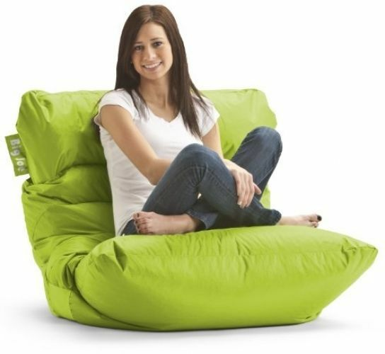 Big Joe Roma Bean Bag Chair in Spicy Lime Green ~ BRAND NEW