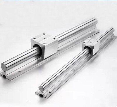 2x Sbr12 500mm L Linear Rail Fully Supported Shaft Rod 4 Sbr12uu Block