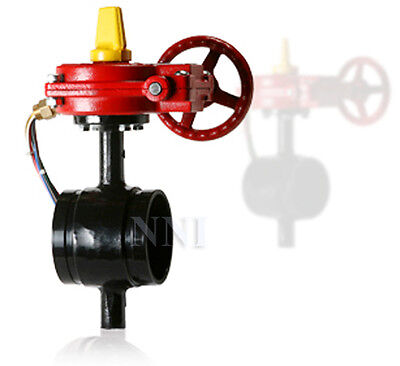8 Butterfly Valve Grooved Ends With Tamper Switch - Ulfm Fire Protection Valve