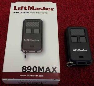 890max Liftmaster Mini 3 Button Garage Gate Remote