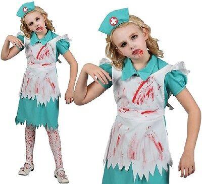 Kinder Halloween Kostüm Zombie Krankenschwester Mädchen Outfit Neu - Krankenschwester Halloween Outfits