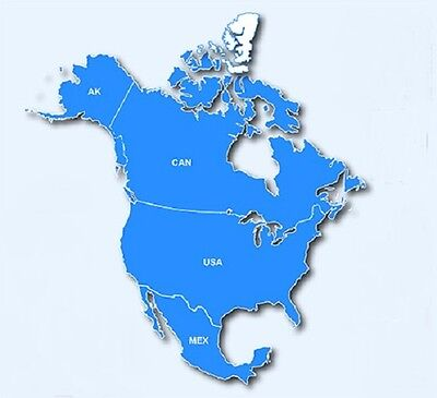 North America GPS Map 2018.2 for Garmin devices on microSD