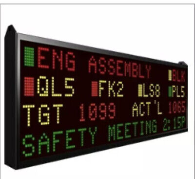 Ezmarquee - Ezmt-4l20c-e. Led Message Display. Display Board Only. Brand New