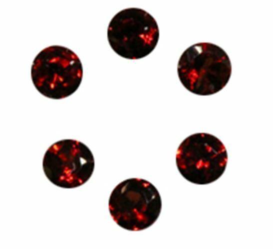 Natural Super Fine Red Garnet Melee - Round Diamond Cut - Mozambique - AAAA Grad