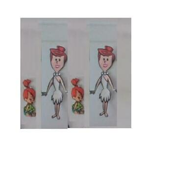 Wilma & Pebbles Flintstone Fabric Applique  Baby lot of 4 iron no,sew  kid, No Sew Applique