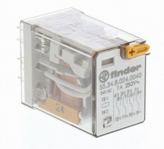 1pcs 55.34.8.024.004 Relè elettromagnetico 4PDT Ubobina 24VAC 7A//250VAC 7A//30VDC