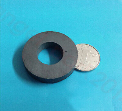 Dia40mmx8mm Hole19mm Ferrite Y30bh Magnets Black Strong Round Disc Magnet
