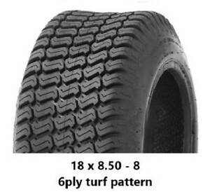 """18 X 8.50 - 8"""" TURF TYRES 6PLY - RIDE ON MOWERS/GOLF CARTS/MINILOADERS Midvale Mundaring Area Preview"""