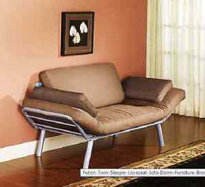 futon twin sleeper loveseat sofa dorm furniture brown couch bed chair room ebay. Black Bedroom Furniture Sets. Home Design Ideas