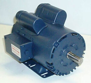 Leeson 120554 5 hp 3450 rpm 230v single phase air for 5hp air compressor motor single phase