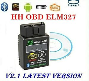 Bluetooth OBD II scanner Android Interface