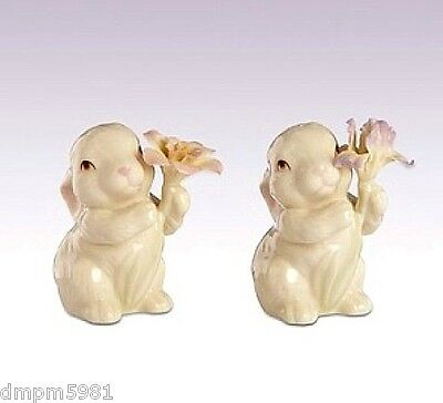 Lenox Bunny Rabbit Salt & Pepper Shakers Easter NEW IN BOX