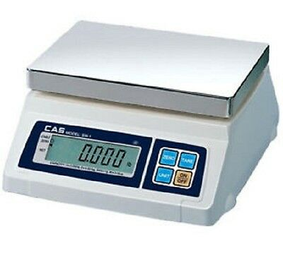 Cas Sw-1-5 Portable Digital Scale 5 Lb X 0.002 Lb Legal For Trade New